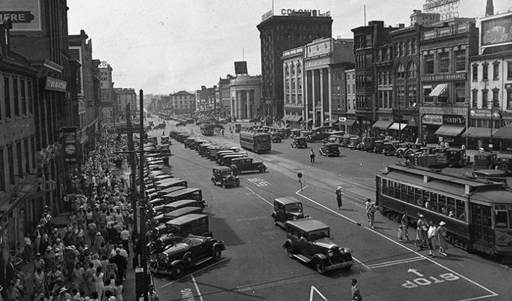6th and Penn Street Trolly 1930s - Reading PA